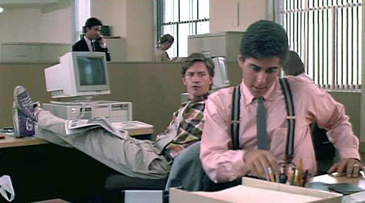 Larry (Andrew McCarthy) & Richard (Jonathan Silverman) at work