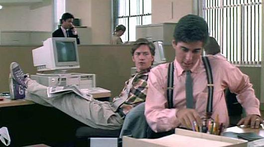 Larry (Andrew McCarthy) & Richard (Jonathan Silverman) at work