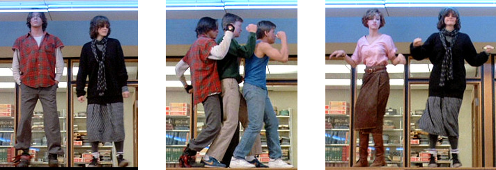 The Breakfast Club members dance it out.