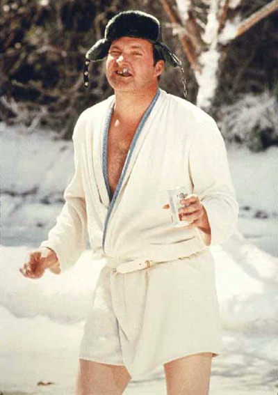 Cousin Eddie 80s bathrobe costume idea