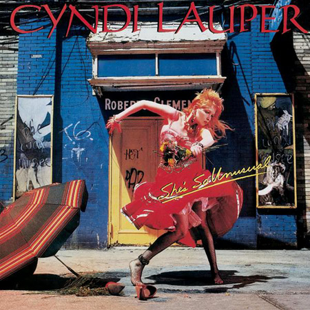 "Cover art for Cyndi Lauper's ""She's So Unusual"" album"