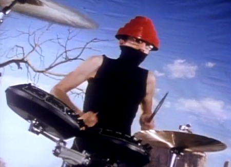 Devo costume idea, as shown in the 'Whip It' music video