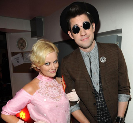 Amy Poehler as Pretty in Pink's Andie Walsh & John Krasinski as Duckie Dale (Photo credit: Red Carpet Roxy)