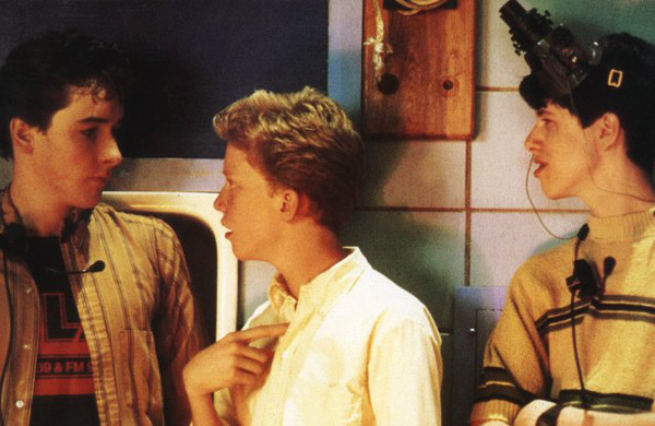 "Farmer Ted conversing with the other geeks of ""Sixteen Candles"""