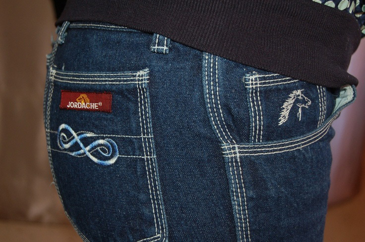 Jordache Jeans pocket design