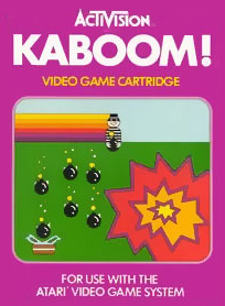 Kaboom video game cover art