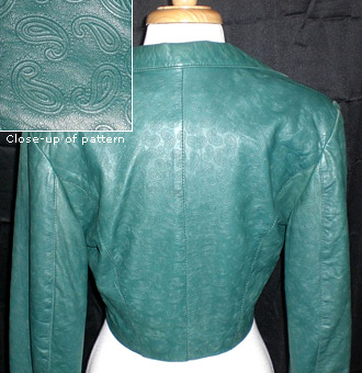 Green paisley North Beach Leather jacket