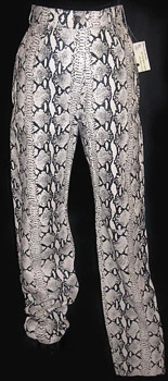 Snakeskin leather pants ... So bitchin'!