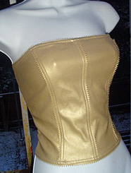Vintage gold bustier from Sparkleyes