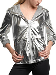 Silver metallic jacket by Gap