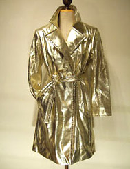 80s inspired gold metallic trench coat from eBay seller boo231