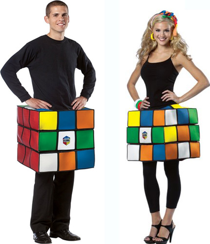 Rubik's Cube costume from Amazon - Click to buy!