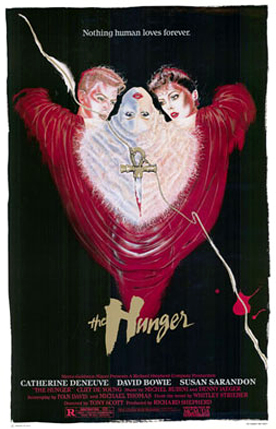 The Hunger (1983) starring David Bowie, Catherine Deneuve & Susan Sarandon