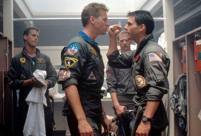 Iceman (Val Kilmer) & Maverick (Tom Cruise)