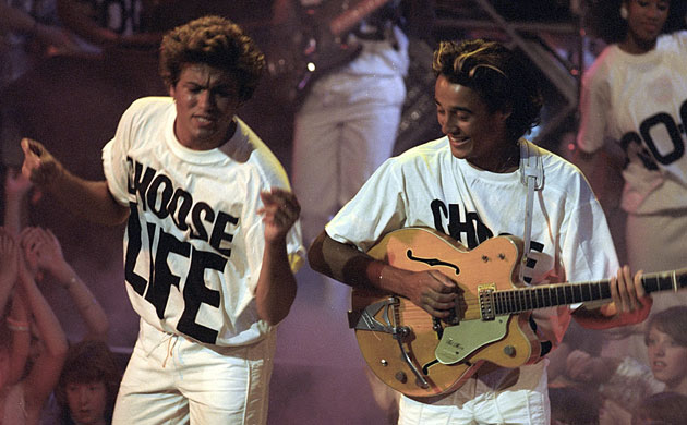 "Wham! Costume idea: All White ""Choose Life"" Look"