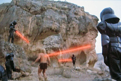 """Not only does """"Yor"""" have cavemen and dinosaurs, but also robots and lasers."""