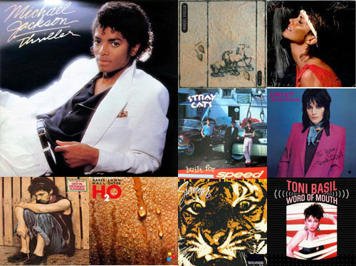 Album covers of 80s albums released in 1982