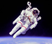 1984 - Astronauts Bruce McCandless II and Robert L. Stewart make the first untethered space walk