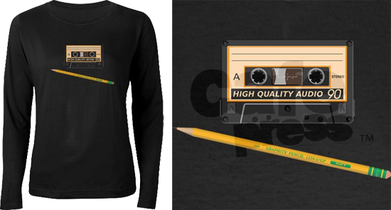 Cassette and Pencil T-Shirt