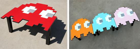 Handmade Pac Man Ghost Table