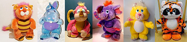 Wuzzles: Bumblelion, Hoppopotamus, Rhinokey, Eleroo, Butterbear, & Tycoon