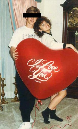 "Lori receives a giant ""I Love You"" balloon from her boyfriend for Valentine's Day"