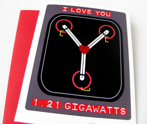80s Inspired Valentine's from Meow Kapow! - Back to the Future Flux Capacitor