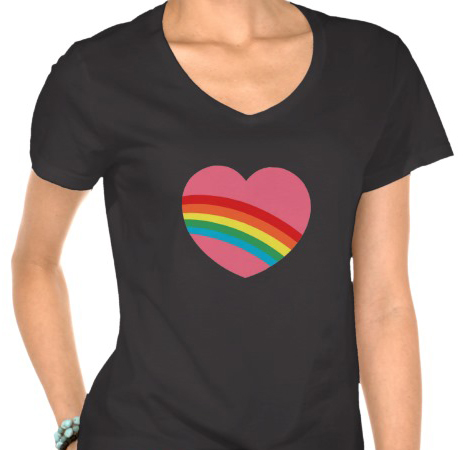 80s Rainbow Heart T-Shirt