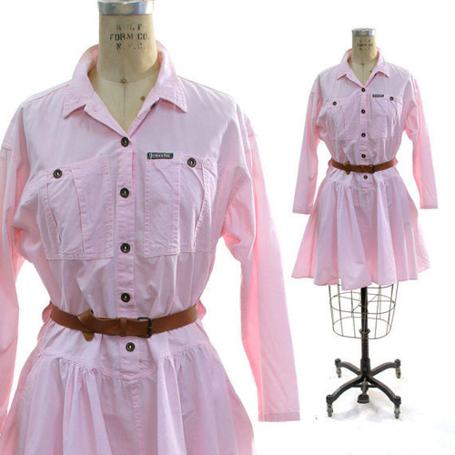 Outback inspired pastel shirtdress (Photo credit: Spunk Vintage)