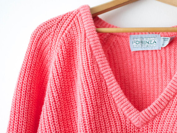 Up-close view of the Forenza v-neck sweater
