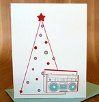 80s-Inspired Stationery - Holiday Boom box
