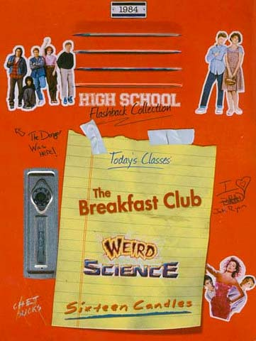 The John Huges Collection DVDs (Breakfast Club, 16 Candles, Weird Science)