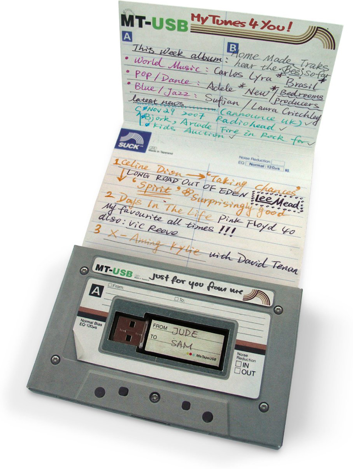 A Modern 80s Mix (Tape) on a Cassette Tape USB Drive