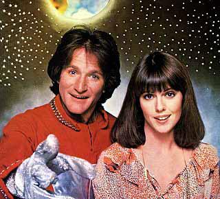 Robin Williams & Pam Dawber as Mork & Mindy