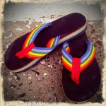 Colors Head to Toe – Rainbow Flip Flops