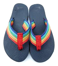 86283a4064a788 Rainbow Flip Flops in the 80s