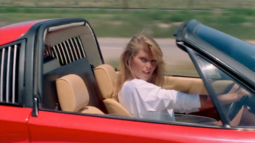 "Christie Brinkley as the ""Girl in the Ferrari"" in National Lampoon's Vacation"