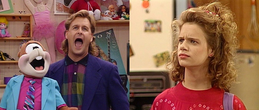 "Dave Coulier as ""Joey Gladstone"" & Andrea Barber as ""Kimmy Gibbler"""