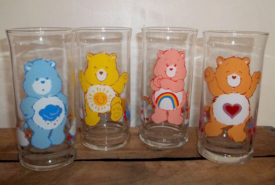 Care Bear glasses from Pizza Hut