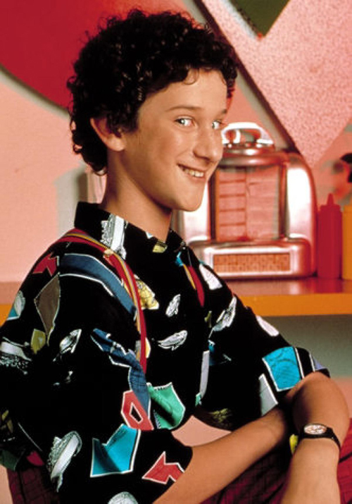 "Dustin Diamond as ""Screech Powers"""