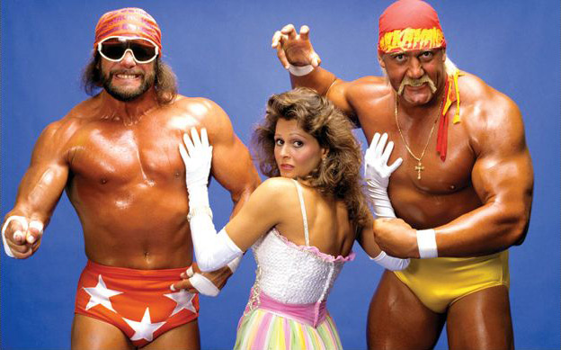 Macho Man Randy Savage, Miss Elizabeth, & Hulk Hogan