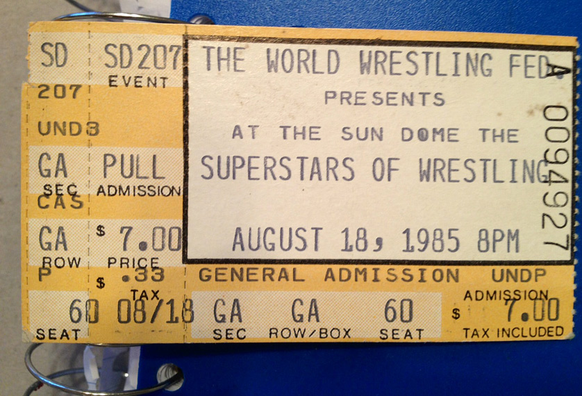 The World Wrestling Federation presents Superstars of Wrestling ticket stub