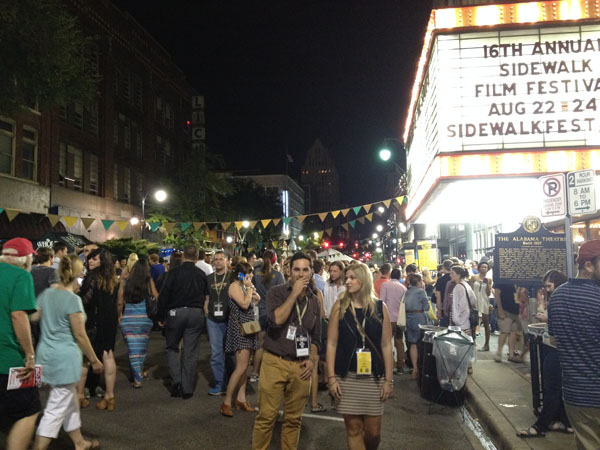 The street party following the opening night screening of 'All American High Revisited' at the Alabama Theater as a part of the Sidewalk Film Festival.