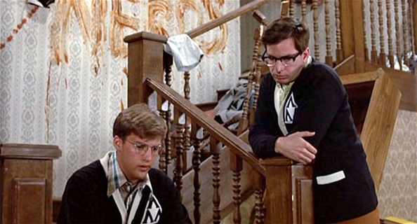 Anthony Edwards as Gilbert and Robert Carradine as Lewis in Revenge of the Nerds