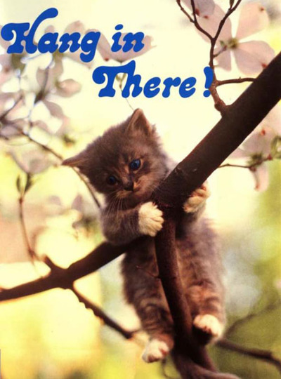 "80s ""Hang in There"" kitten poster"
