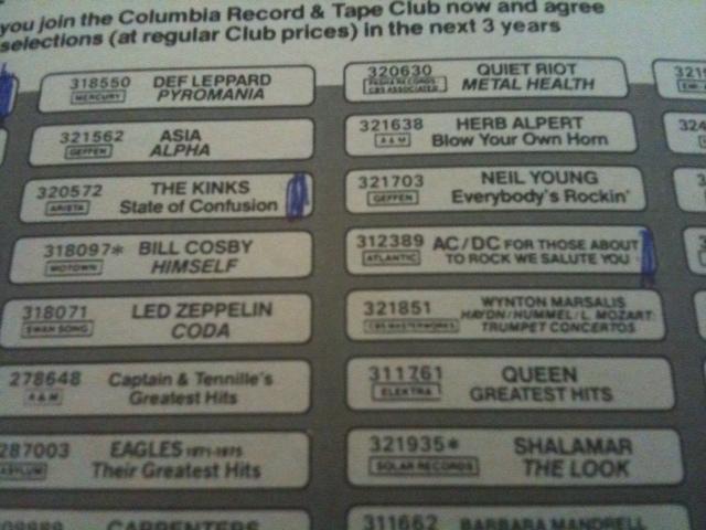 Columbia House catalog
