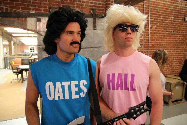"""Hall"" and ""Oates"" t-shirts costume idea"