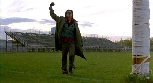 John Bender at the end of 'The Breakfast Club'