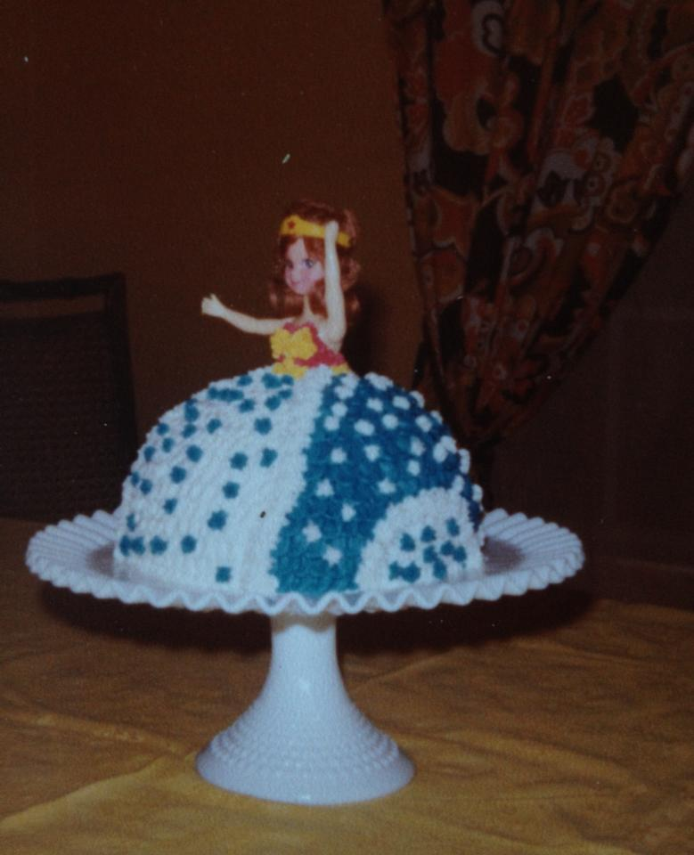 80s Wonder Woman Doll Birthday Cake