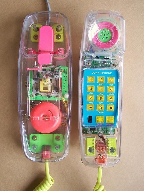 80s Clear Phone